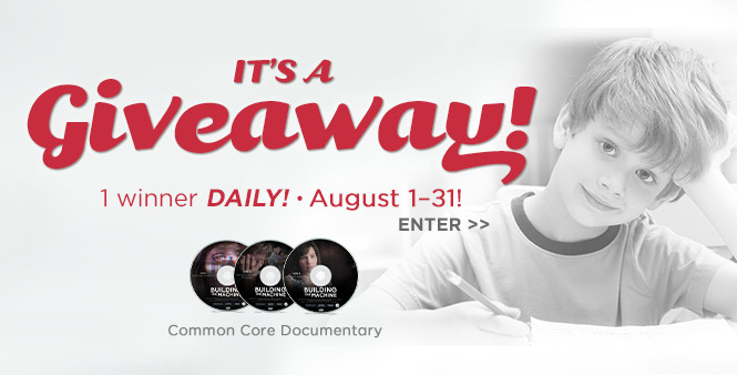 Enter our giveaway to win a copy of our Common Core documentary! Enter now! >>