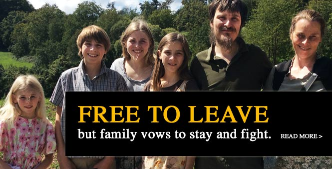 Wunderlich family receives custody of children: free to leave, but vow to stay and fight for homeschool freedom. Read more >>