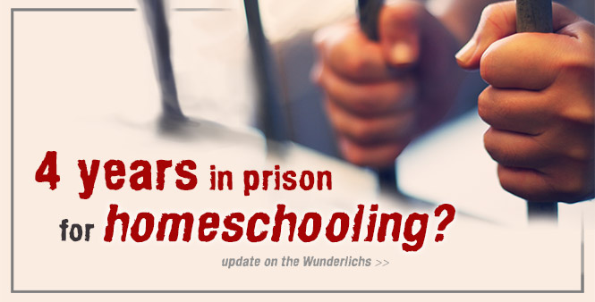 Four years in prison for homeschooling? German Judge fines Wunderlich family and threatens jail next time. Learn how you can help. >>