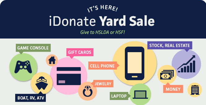 "It's here! Donate your old cell phone, car, jewelry, boat, or gift cards to HSF and HSLDA's iDonate ""Yard Sale,"" September 19-20. Learn more >>"